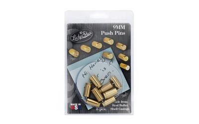 2 Monkey 9mm Push Pin Brass 8pk