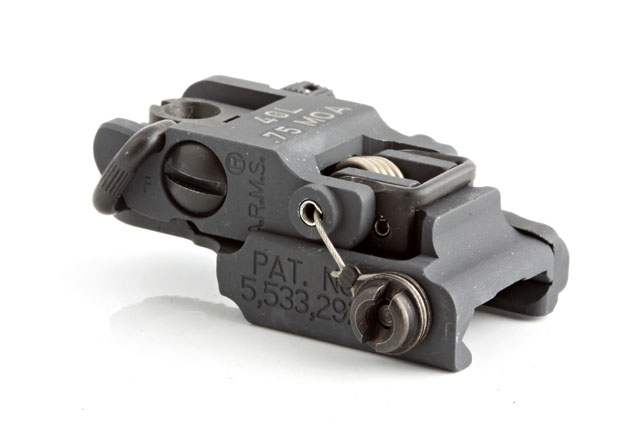 A.R.M.S., Inc. A.R.M.S. Low Profile Flip Up Rear Sight
