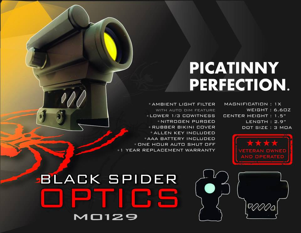 Black Spider Optics Red Dot Sight M0129 Photo 5
