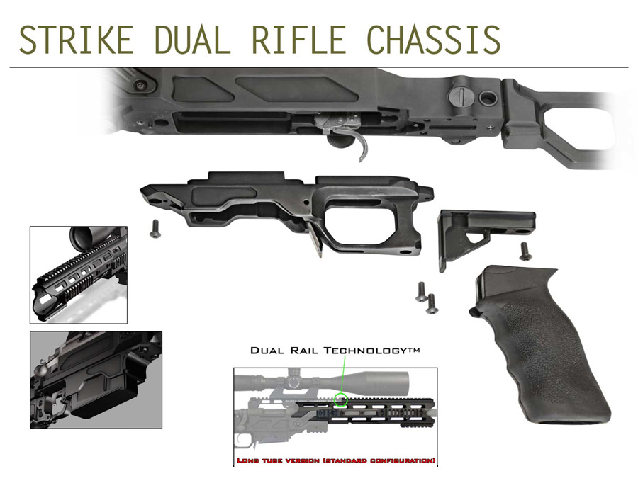 Cadex Strike Dual Strike Rifle Chassis | Black Label Tactical
