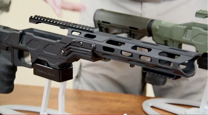 Cadex Strike Dual Strike Rifle Chassis   Black Label Tactical