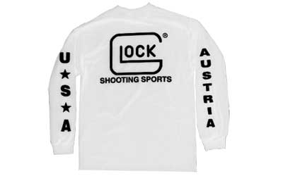 Glock Glock Shooting Sports Long Sleeve T-Shirt - White Large