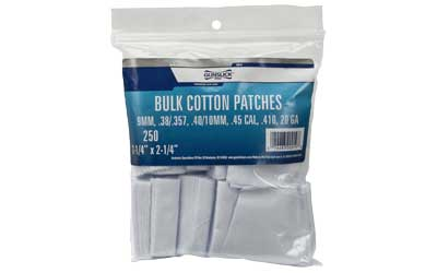 Gunslick Bulk Patches .38-20ga 250ct