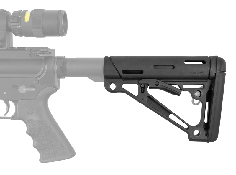 Hogue AR15 Stock RBR Black Mil-Spec