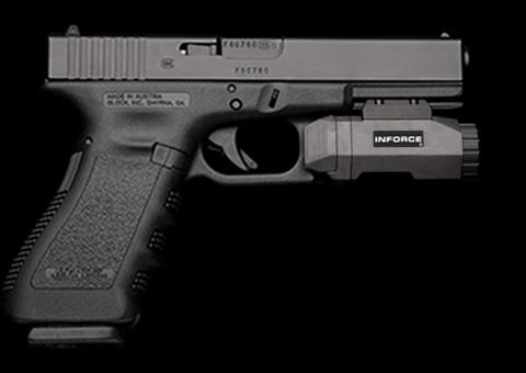 Inforce Apl Pistol Light Led Black Inf Apl B W Black