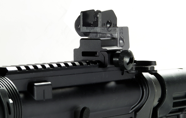 UTG Flip-up Rear Sight with Windage Adj & Dual Aiming Apertures