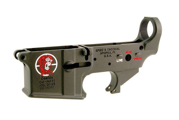 Spike's Tactical Spikes Tactical Stripped Zombie Lower Color Fill