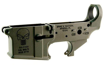 Spike's Tactical Spikes Tactical Stripped Punisher Lower Skull Color Fill