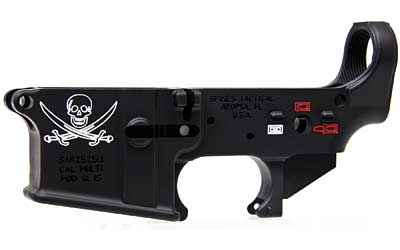 Spikes Tactical Stripped Jolly Roger Lower Color Fill