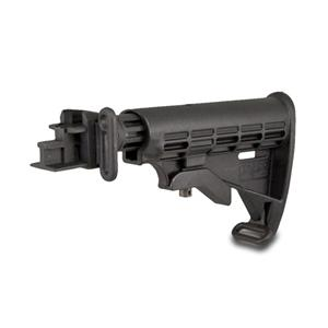 Tapco Intrafuse AK T6 Stock, Stamped Receiver - Black