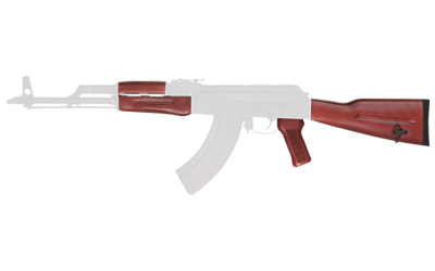 Tmbsmth AK47 Wood Stock Set Red Lamnat