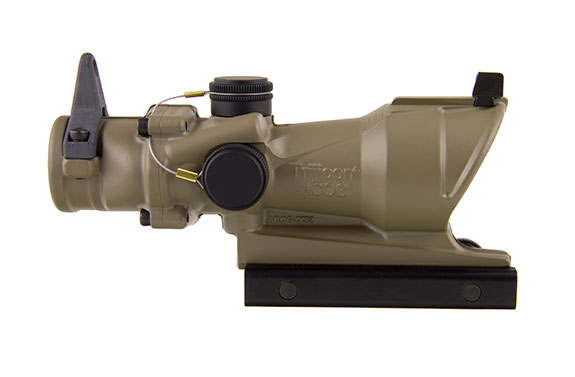 Trijicon ACOG 4x32 Scope with Amber Center Illumination for M4A1 – includes Flat Top Adapter, Back