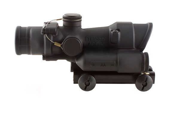 Trijicon ACOG 4x32 LED Scope, Battery Illuminated Red Crosshair .223 Ballistic Reticle with  TA51 Mo