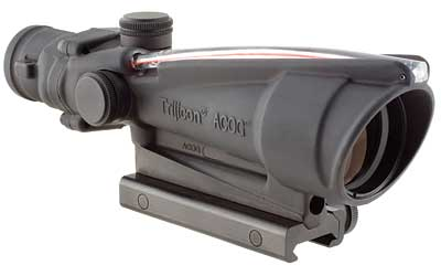 Trijicon ACOG 3.5x35 Scope, Dual Illuminated Red Chevronronronron BAC .223 Flattop Reticle with  TA5