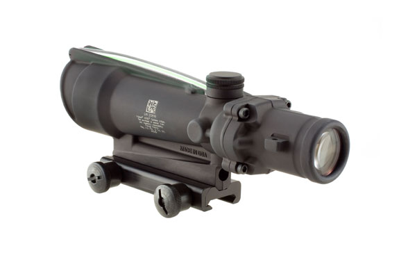 Trijicon ACOG 3.5x35 Scope, Dual Illuminated Green Chevron BAC .223 Flattop Reticle with  TA51 Mount