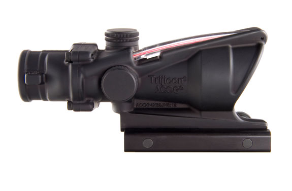 Trijicon ACOG 4x32 Scope, Dual Illuminated Red Crosshair .223 Ballistic Reticle with  TA51 Mount