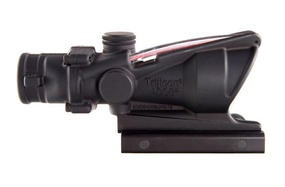 Trijicon Trijicon 4x32 ACOG, Dual Illuminated Red Chevronronronron .223 Ballistic Reticle with  TA51 Flattop