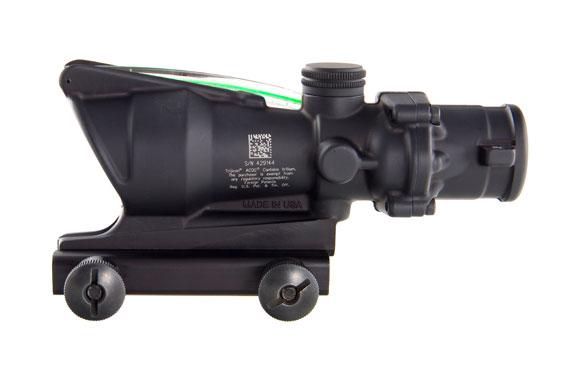 Trijicon Trijicon 4x32 ACOG, Dual Illuminated Green Chevronronronron .223 Ballistic Reticle with  TA51 Flatto