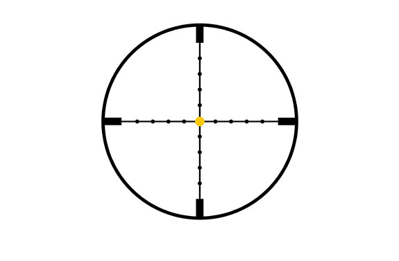 Trijicon Trijicon AccuPoint® 3-9x40 Riflescope MIL-Dot Crosshair with Amber Dot, 1 in. Tube