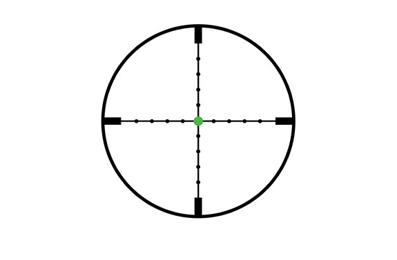 Trijicon Trijicon AccuPoint® 3-9x40 Riflescope MIL-Dot Crosshair with Green Dot, 1 in. Tube