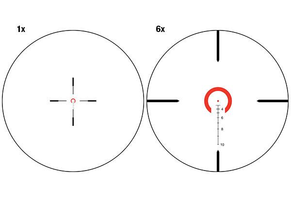 Trijicon Trijicon  VCOG 1-6x24 Riflescope Horseshoe Dot / Crosshair  .308 / 175 Grain Ballistic Reticle wit