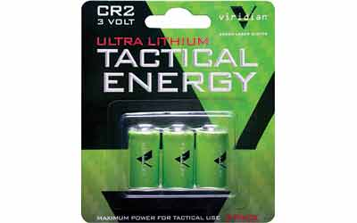 Viridian Green Laser Viridian Cr2 Lith Battery 3-pk